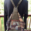 Leather and Wool Backpack/Sling Bag